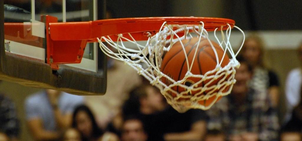 basketball in basket